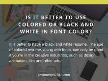 Best Font To Use On Resume by Best Fonts For A Resume 2018 Resume Tips 2018