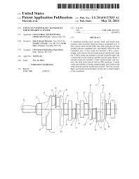 four counterweight crankshaft for 90 degree v6 engine diagram