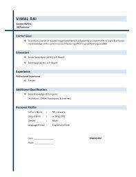 simple resume format doc free download resume exle 47 simple resume format basic resumes formats