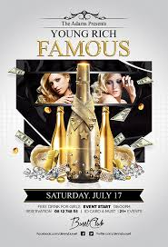 young rich and famous nightclub flyer design template club flyer