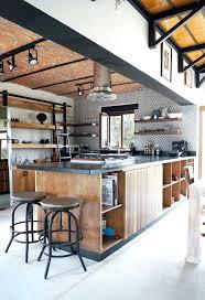 cuisine style usine cuisine style industriel bois daccoration industrielle contemporaine