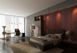 furniture bedroom interior design with brown lacquer wall board