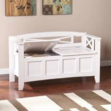 White Bench With Storage Entryway Benches Settees For Less Overstock