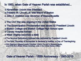 facts about the history of thanksgiving gate of heaven u0026 saint brigid parishes gate of heaven parish history
