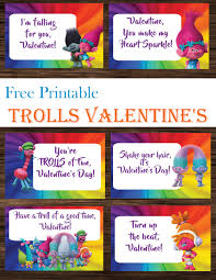 trolls valentine u0027s day cards printables 4 mom