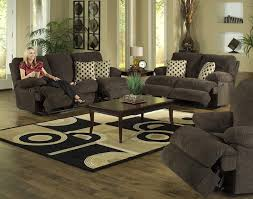 Chenille Reclining Sofa 2 Pc Reclining Sofa Set In Chocolate Chenille By Catnapper