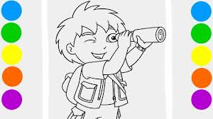 diego coloring book pages videos kids colored