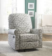 Reclining Rocking Chair For Nursery Furniture Upholstered Rocking Chair With Ottoman Baby Room Gliders