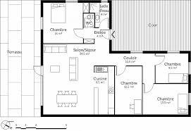 plan de maison de plain pied 3 chambres chambre beautiful plan maison plain pied 1 chambre high resolution