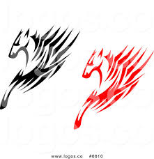 free logo design horse royalty free clip art vector logos of black and red horses with