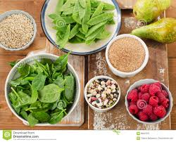 fiber rich foods on a wooden table stock photo image 69507537