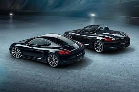 porsche boxster black edition 2016 porsche cayman joins black edition lineup