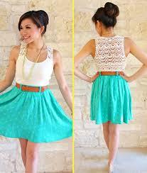casual summer skirts and dresses make you look like a princess