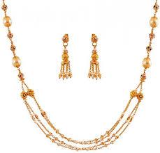 gold pearl necklace set images 22k gold fancy pearls necklace set ajns60881 22k gold necklace jpg