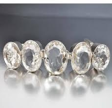 sterling silver crystal bracelet images Vintage sterling silver huge rock crystal bracelet on hold boylerpf jpg