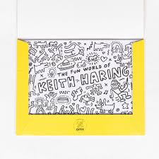 coloring placemats omy keith haring coloring placemat set littlehipstar