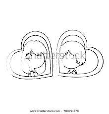 cute couple married heart stock vector 709795009 shutterstock