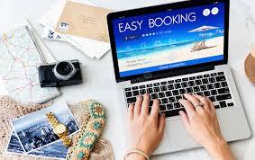 travel reservation images Booking ticket online reservation travel flight concept stock jpg