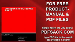 johnson 6hp outboard parts video dailymotion