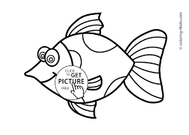 fish animals coloring pages for kids printable free coloing