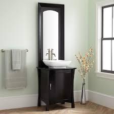 Black Mirror Bathroom Cabinet 24 Frisco Vessel Sink Vanity With Mirror Bathroom