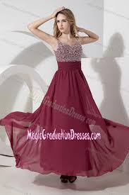 8th grade graduation dresses with straps beaded burgundy grad dress for 8th grade with side zipper