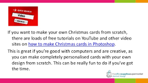 print your own christmas cards and save money