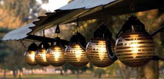 chic lighting for dinner garden idea outdoor lighting