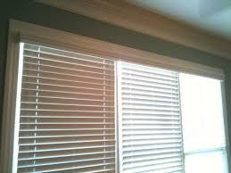 Inside Mount Window Treatments - inside mounted wood blinds in shallow window living room