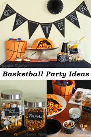 basketball party table decorations how to host a classy basketball party our potluck family