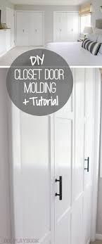 diy molding how to update your closet doors on a budget the diy playbook
