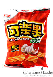 sometimes foodie pea crackers original garlic flavor asian
