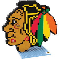 chicago blackhawks nhl 3d logo brxlz puzzle by forever collectibles