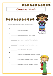 wh question words elementary worksheet wh pinterest wh