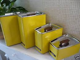 vintage kitchen canisters sets vintage lincoln beautyware metal curved canister set canister