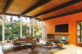 Mid Century Modern Living Room Furniture by A Period Perfect Midcentury Renovation Portland Monthly