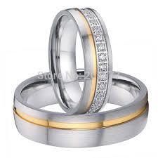 titanium wedding band sets 2015 luxury cz anniversary engagement wedding rings sets