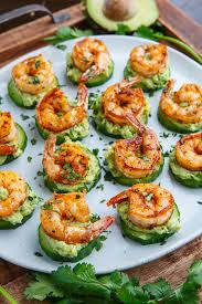 cucumber canapes blackened shrimp avocado cucumber bites on closet cooking