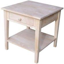 Unfinished Nightstand Unfinished Wood Table Ebay