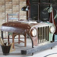 Fancy Office Desks Fancy Reclaimed Jeep Office Desk