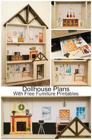Free Doll House Design Plans by Remodelaholic Diy Dollhouse Tutorial Free Printable Dollhouse