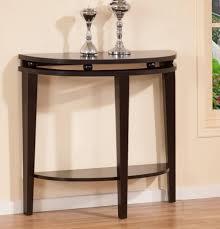 console table design console tables modern espresso half moon console table design