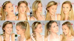 hair styles for back of 10 easy back to school hairstyles youtube