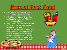 Power Point Presentation On Traditional And Fast Food Fast Food Ppt