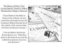 Iron Curtain Political Cartoon Apush Lecture Ch 27