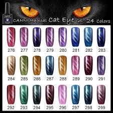 51023x canni cat eye gel polish free art supply samples 7 3ml soak