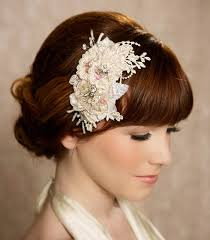 1940s hair accessories bridal hairstyle with braid bun and pieces ideas