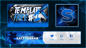 free youtube banner profile picture and thumbnail template psd