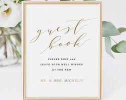 wedding guest book sign guest book sign etsy