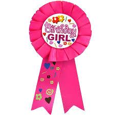 birthday girl badge award ribbon birthday girl the party stop